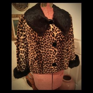 Faux cheetah fur jacket